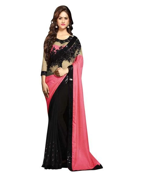 Black & Pink Color Net Saree Designed With Floral Embroidery & Lace Work Designer Net Sarees https://ladyindia.com/collections/net-sarees/products/black-pink-color-net-saree-designed-with-floral-embroidery-lace-work-designer-net-sarees #saree #netsaree #designersaree