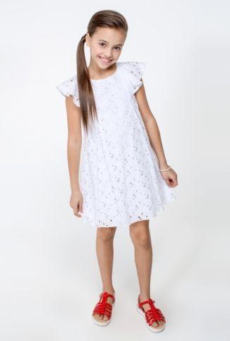 Платье детское для девочек белое - купить в интернет-магазине Acoolakids.ru. Заказать модную брендовую одежду для детей можно по телефону 8 (800)333-83-63 или положив товар в корзину. Сделайте подарок своему ребенку купив ему обновку - платье детское для девочек белое по цене 1199 рублей.