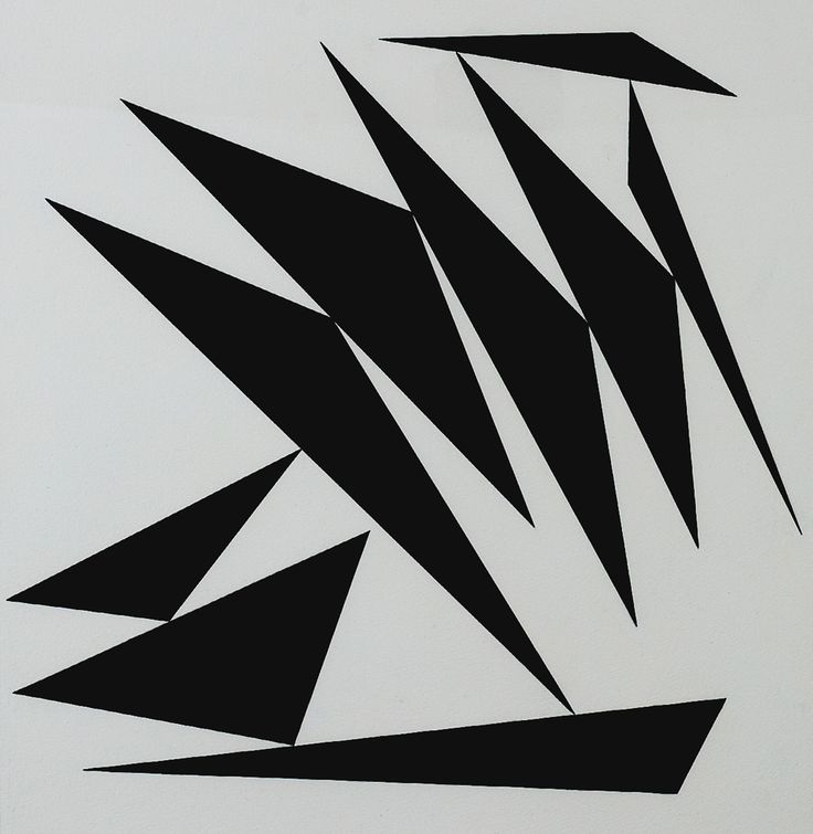 Geneviève Claisse (1935) - Agena, 1965 - This would be fund with each triangle in a different large print fabric...