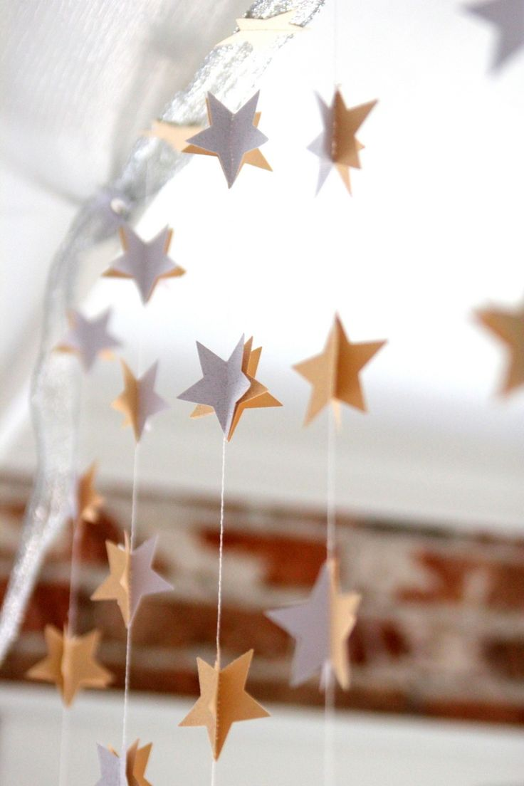 moon and stars shower decor