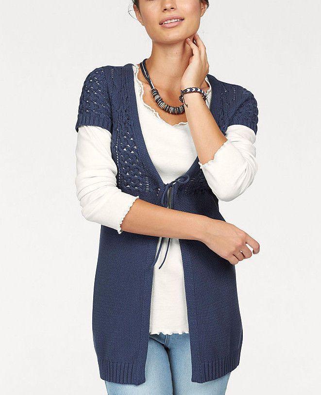 87ce19e6bb63 Details zu Boysen s Ajourstrickjacke jeansblau Neu Gr.44   Damen Fashion  Mode Gr.44   Pinterest   Fashion, Streetwear fashion und Jeans