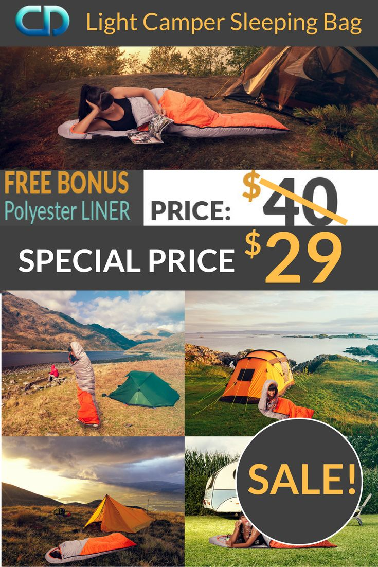 LIMITED TIME SALE! Take advantage of our special Light Camper Sleeping Bag sale and save 10 $ !! Order here: http://coziadesign.com/sleeping-bag/