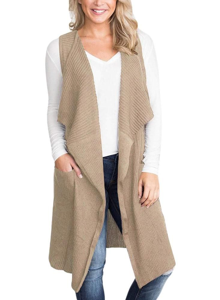 22feb5be7b Sidefeel Women Sleeveless Open Front Knitted Long Cardigan Sweater Vest  Pocket  fashion  clothing  shoes  accessories  womensclothing  sweaters  ad  (ebay ...