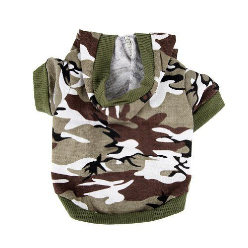 Army Green Camouflage Hoodie Pet Dog Clothes Camo Sweatshirt-S Size - http://www.thepuppy.org/army-green-camouflage-hoodie-pet-dog-clothes-camo-sweatshirt-s-size/
