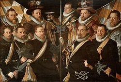 Officieren en vaandeldragers van de Oude Schutterij in 1606 (1606), Stedelijk Museum Alkmaar