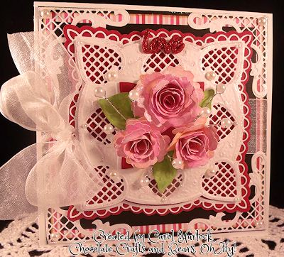 Gorgeous Card Inspiration...love the lacy look to this!