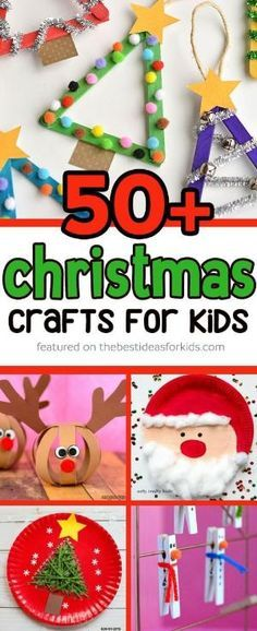 Over 50 Christmas Crafts for Kids - so many fun ideas! From popsicle