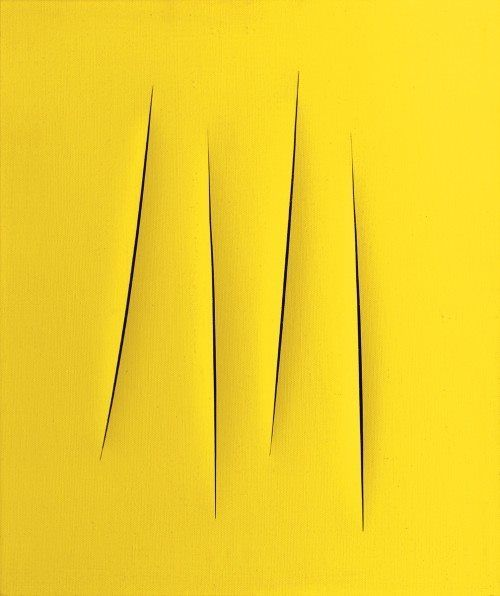 Lucio Fontana 1962 #art