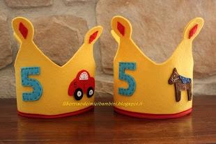Ilsorrisodeimieibambini: Corona di feltro per la festa di compleanno