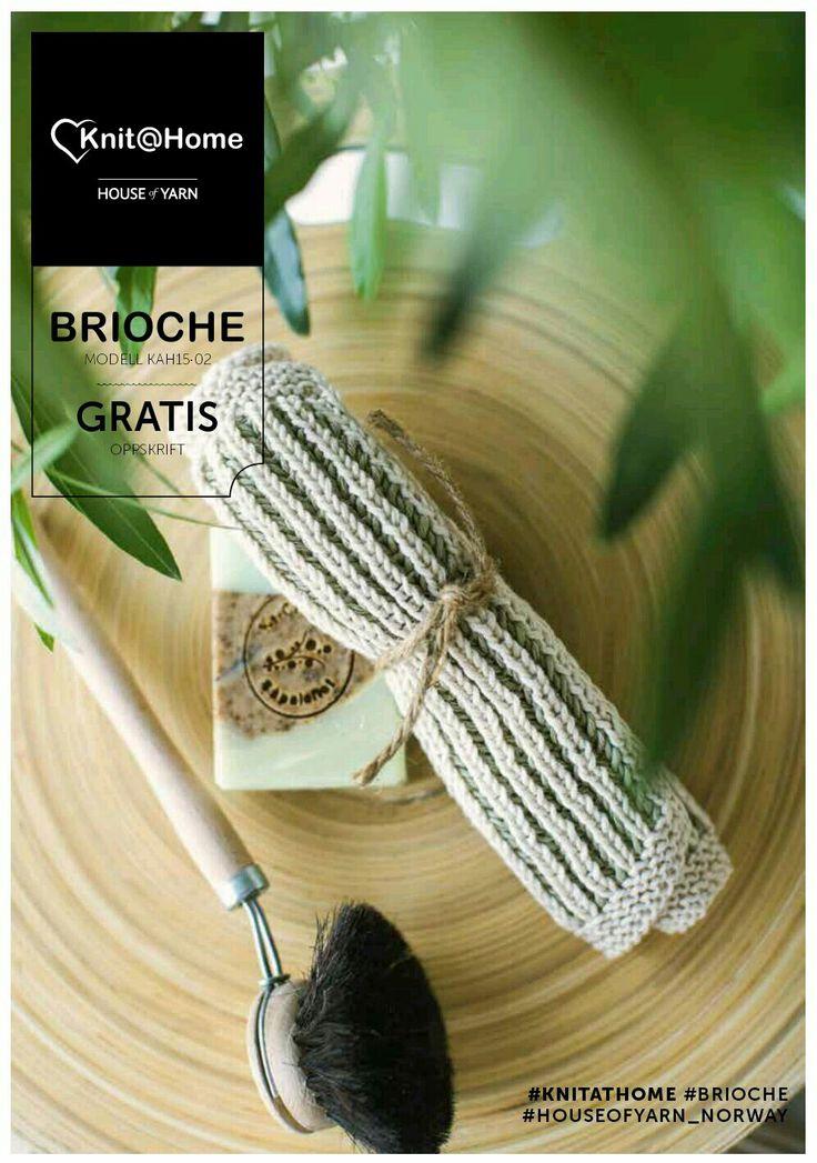 KnitAtHome | free knitting pattern | knitted dishcloth | knitted washcloth | strikket fille | strikket karklud | strikket klut