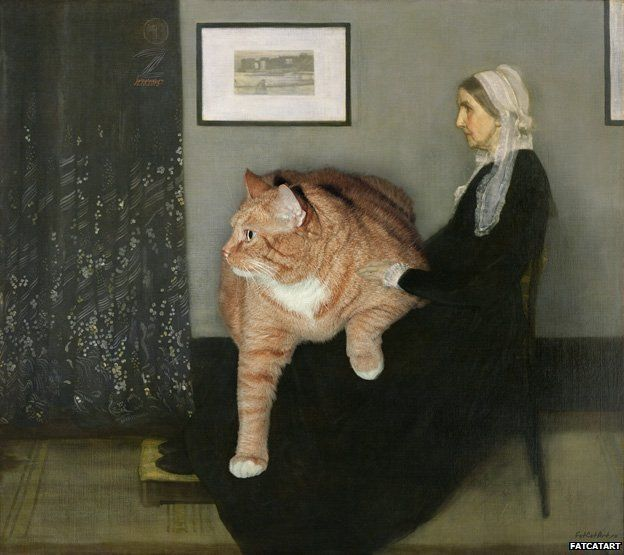 I can't feel my legs, but otherwise I'm very comfortable, thank you. (Fat Cat Art by Svetlana Petrova)