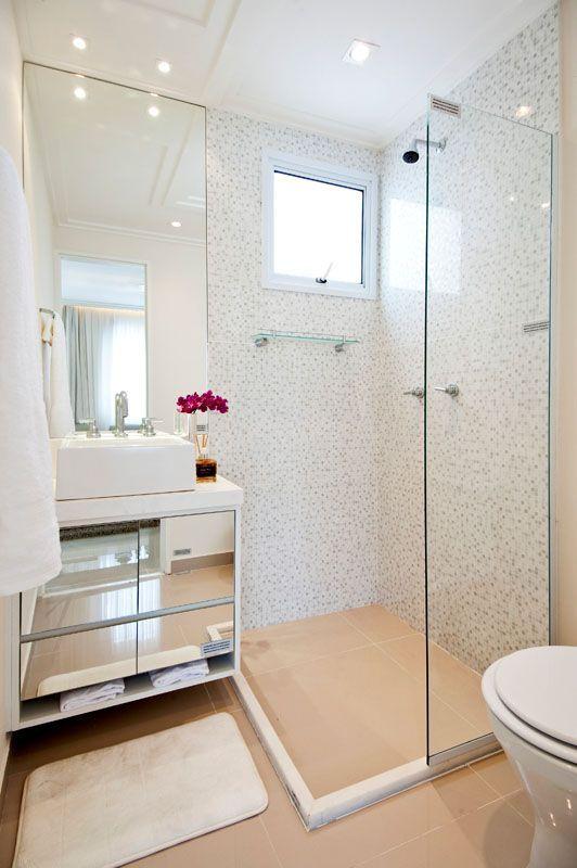 25+ melhores ideias sobre Banheiros decorados com pastilhas no Pinterest  Ba # Banheiro Decorado Social