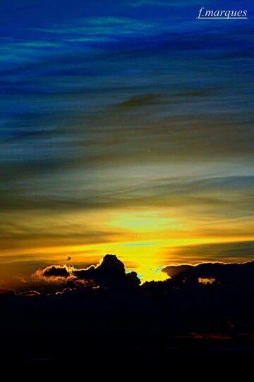 A cor de um céu