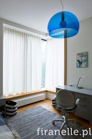 simple sheer curtain for a boy