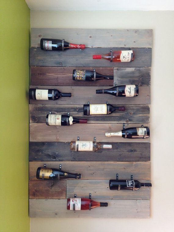 Handmade Wall Mounted Wine Rack This Is Made Of Pine And Measures Roximately 3 X5 Holds 12 Bottles Although I Could Al