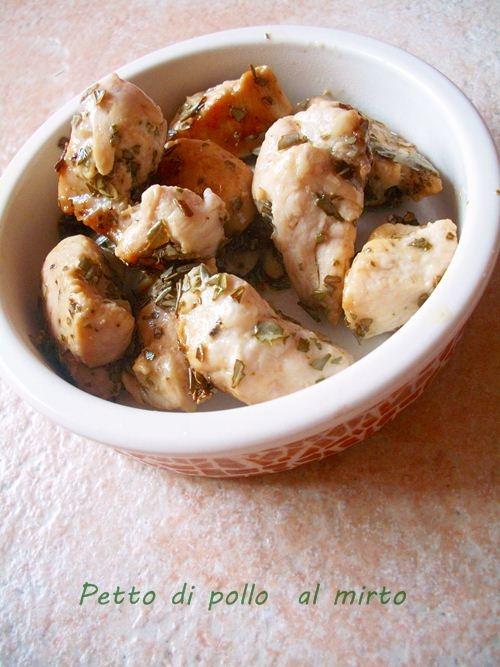 Petto di pollo aromatizzato al mirto