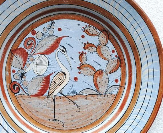 Old Mexican Burnished Clay Charger Plate by vintageeclecticity, $145.00