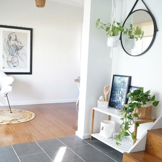 Create a stylish entryway with a Mocka Jimmy Stand. Image from Moore Creative.