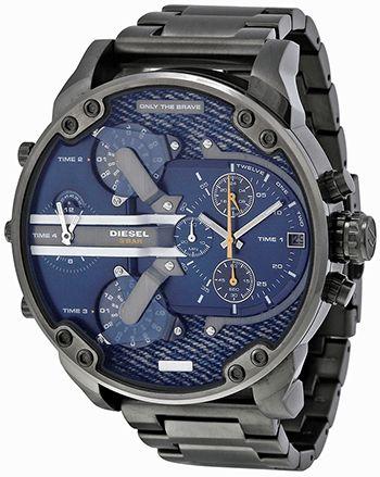 Montre Diesel Mister Daddy Homme - DZ7331 - Quartz - Chronographe - Cadran et Bracelet en Acier inoxydable Gris - Date