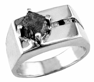 MANGagement - Unique Canadian rough Diamond - approx 3ct, plus 6 black and white diamonds, set in sterling silver or gold. Priced accordingly. Real Men do wear diamonds - for men or women.   ashechtm@rogers.com for more info