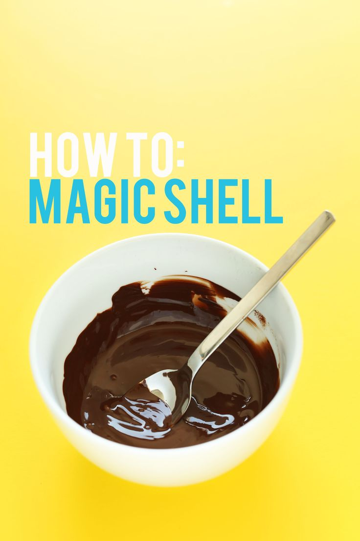 Easy, 2-ingredient chocolate magic shell that's vegan-friendly, gluten free, and perfect on top of frozen desserts!