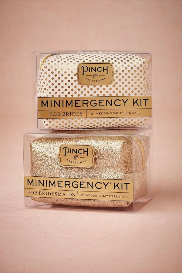 Mini emergency kit for brides.
