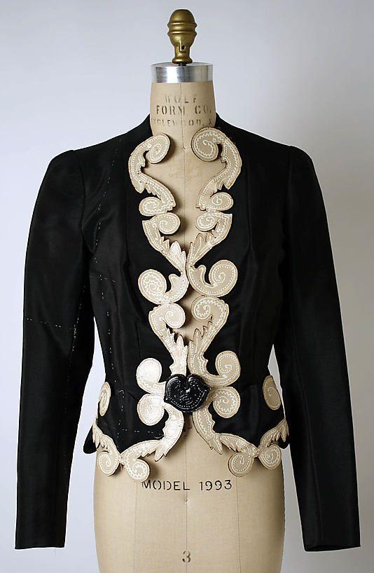 Schiaparelli Jacket - 1937 - House of Schiaparelli (French, 1928-1954) - Design by Elsa Schiaparelli (Italian, 1890-1973) - Synthetic, leather - @~ Watsonette
