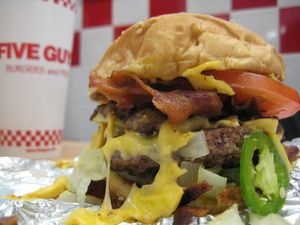 This would be it for me, for the month! 5 guys burger
