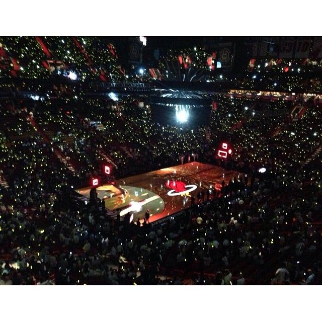 Opening night for the @Annalise Furman Poe #NBA #Miami #heat #MiamiHeat #letsgoheat #basketball #sports