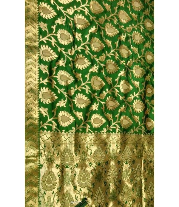 Green Banarasi Katan Silk Handloom Saree