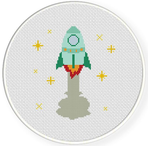 FREE for Oct 1st 2014 Only - Spaceship Cross Stitch Pattern