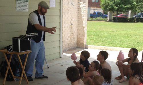 Keffery Davis aka Jeffery Jester is a popular balloon twister and kids entertainer in the Austin Texas area