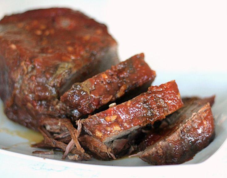 Slow Cooker Coca Cola Roast Beef Recipe from SixSistersStuff.com