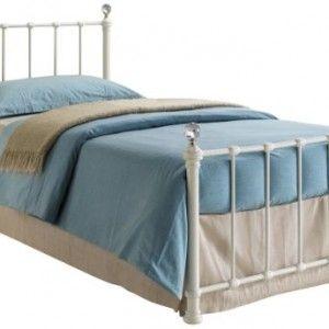 birlea jessica 3ft single metal childrens bed cream - Childrens Bed Frames