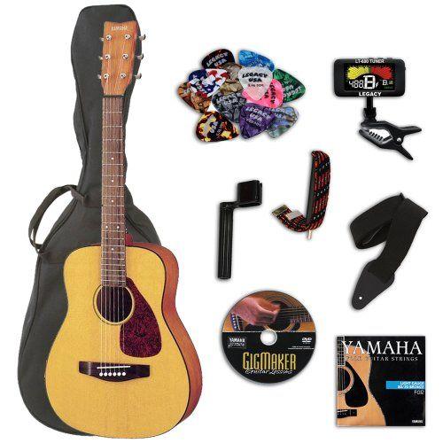 Yamaha FG JR1 3/4 Size Acoustic Guitar BUNDLE w/Gig Bag & Legacy Kit (Tuner,Picks,DVD & Much More) - http://www.learntab.com/guitar-deals/yamaha-fg-jr1-34-size-acoustic-guitar-bundle-wgig-bag-legacy-kit-tunerpicksdvd-much-more/