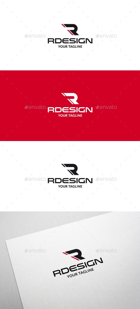 Rdesign R Letter Logo V2 — Vector EPS #rally #logo • Available here → https://graphicriver.net/item/rdesign-r-letter-logo-v2/6325662?ref=pxcr