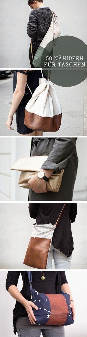 Kostenlose Anleitungen: Näh Dir Deine eigene Tasche, Trend / free diy tutorials for bags: sew your favorite shopper bag via DaWanda.com