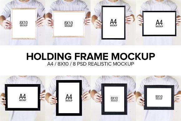Holding Frame Mockup by antyalias store on @creativemarket
