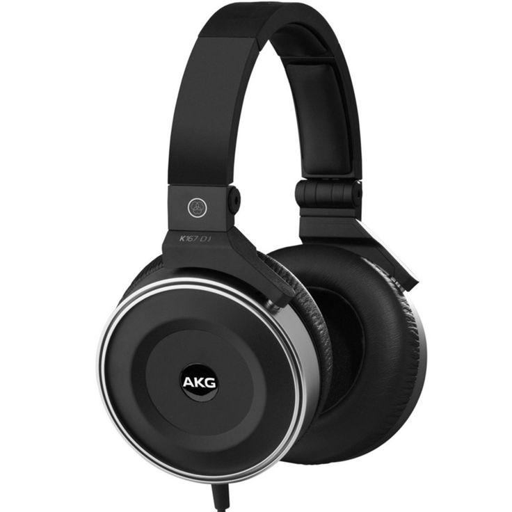 AKG K167 DJ Pro DJ Headphones K 167 Over-Ear Closed-Back Deejay Earphones