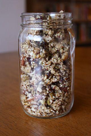 Quinoa Granola...a friend of mine made this and its SOOO GOOD!! hungryhippie.com/quinoa-granola