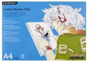 Paperilehtiö Letraset Comic Marker Pad