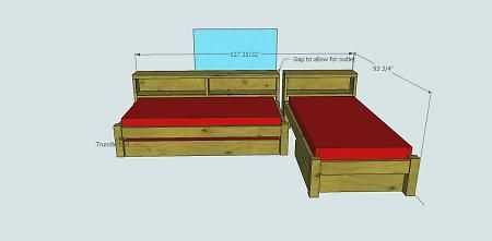 DIY twin beds for small room.