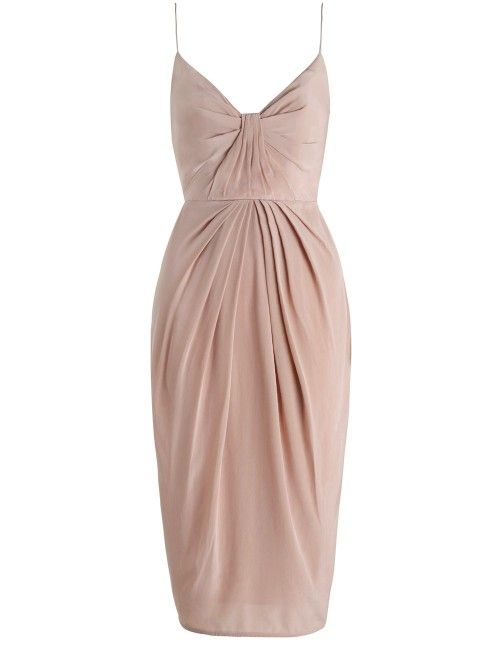 Silk Folded Dress - Dresses - Clothing - Ready to Wear