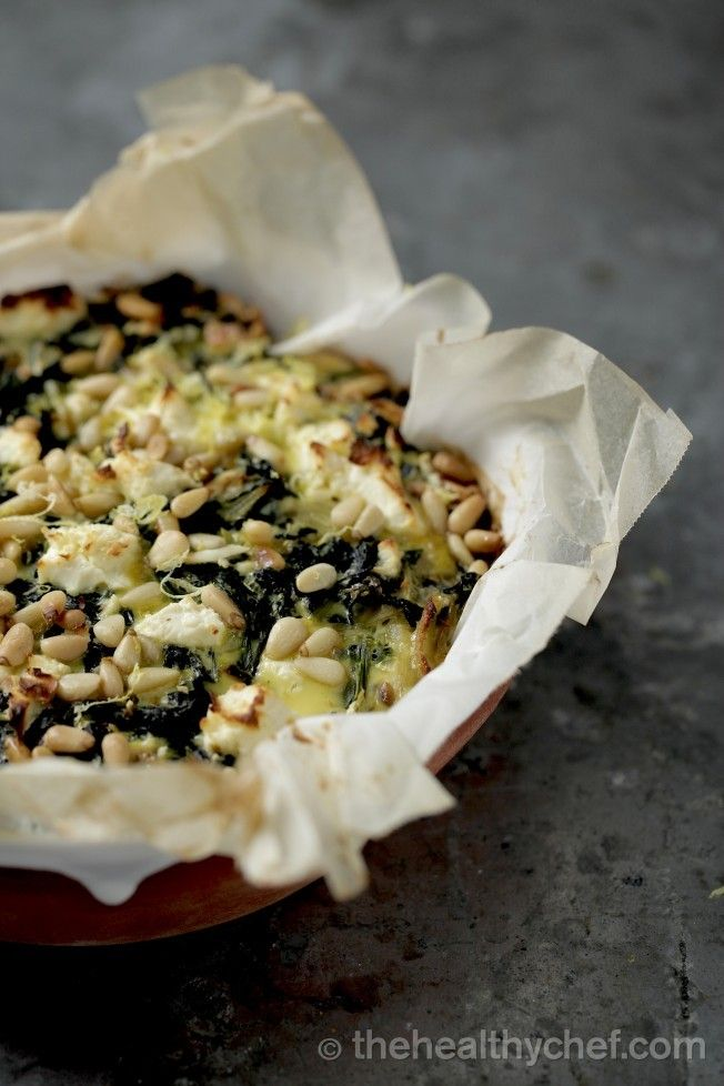 Kale, Spinach + Feta  Pie