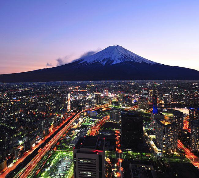 Yokohama and Mount Fuji