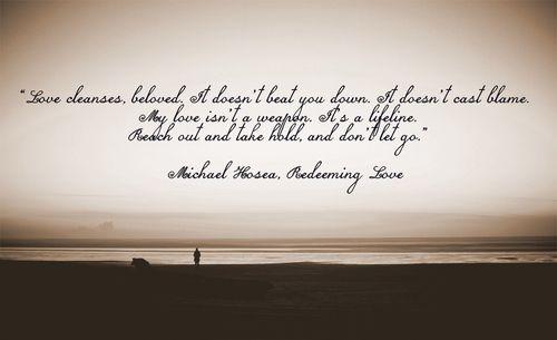 Redeeming Love a powerful book.