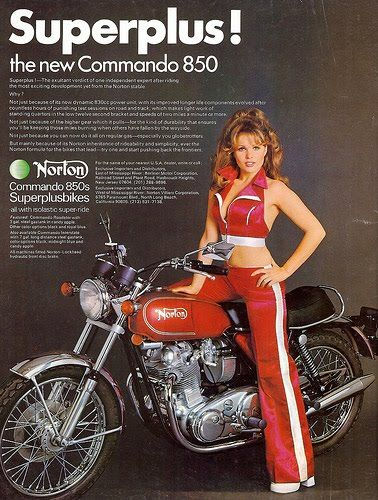 STRANDED KOSMONAUT: Vintage Norton Motorcycles Ads
