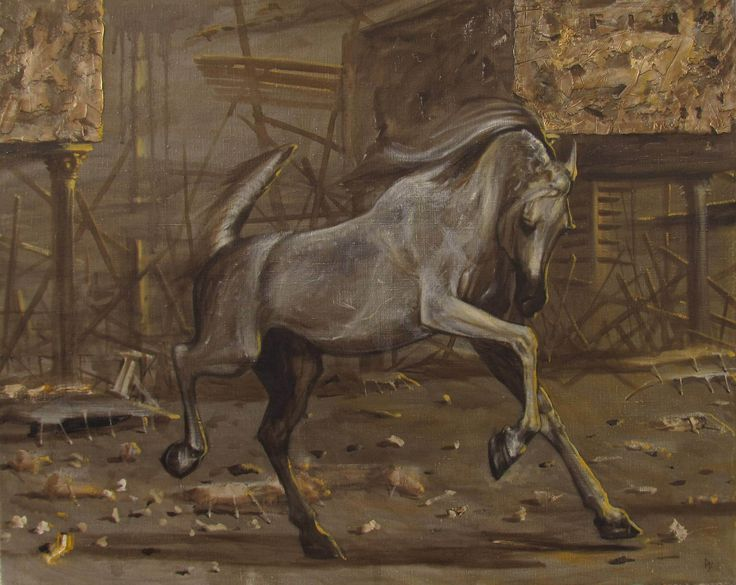 FineArtSeen - The Finale II by Serhiy Roy. This original fine art painting of a stunning horse is full of detail and comes from the collection on FineArtSeen. Click to view more art at great prices from the Home Of Original Art. << Pin For Later >>