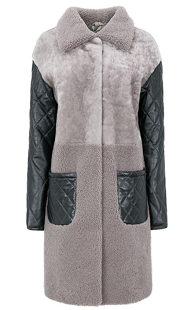 Утепленное пальто из овчины