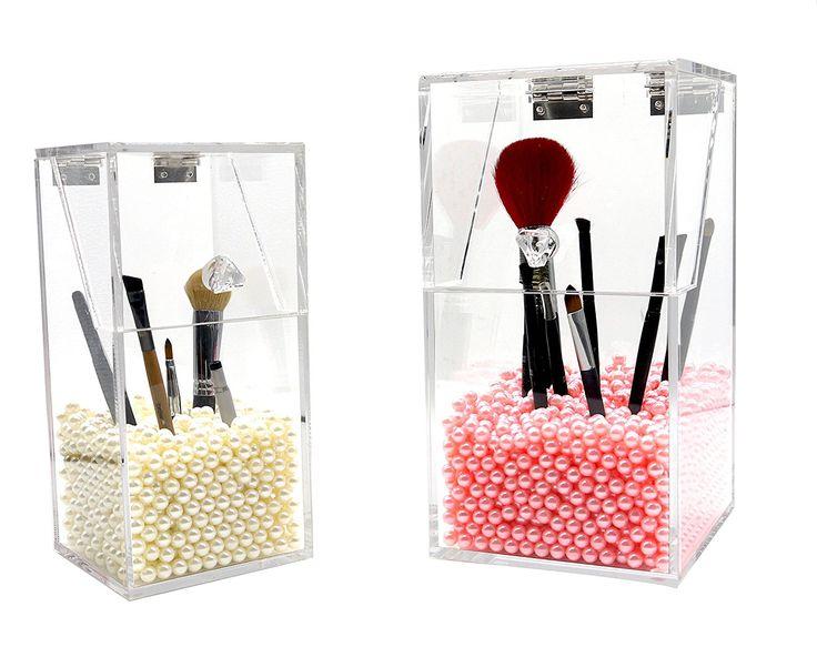 PuTwo Oraganizador Maquillaje Acrílica Gran Capacidad Estuche Caja Maquillaje Grande Rosa: Amazon.es: Hogar